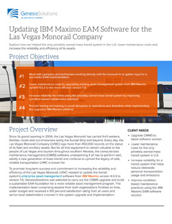 Updating IBM Maximo Asset Management Software for Las Vegas Monorail